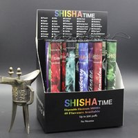 shisha-stöcke großhandel-E ShiSha Shisha-Stift-Wegwerfelektronische Zigaretten-Rohr-Stift-Zigarren-Fruchtsaft E Cig-Stock-Shisha-Zeit 500 Hauch-buntes DHL-freies Verschiffen