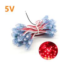 Wholesale Led Module Light Strings - 50pcs string LED Lighting Modules F8 12mm Width Single Color IP65 Waterproof Led Pixel Light For Sign Letter