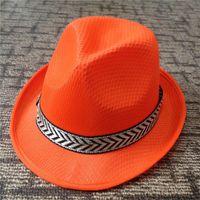 Wholesale Black Purple Fedora Hats - Summer Autumn Jazz Caps Hats for Women Men Fashion Waterproof Polyester Fedora Hats with Belt Outdoor Sunhat Unisex GH-221