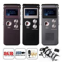 3d audio mp3 großhandel-8 GB Speicher Digitaler Sprachrecorder 3D-Sound-Audiorecorder LCD-Anzeige MP3-Player 3 Farboption