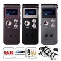 Wholesale Option Audio - 8GB Memory Digital Voice Recorder 3D Sound Audio Recorder LCD Display MP3 Player 3 Color Option