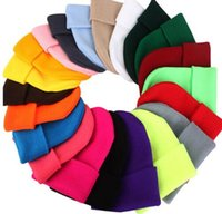 Wholesale Dance Wear Lady - 2017 New Candy Color Knitting Cotton Men Women Hats Girls Caps Boys Beanies Fashion Lady Dance Head Wear hats accessories cap