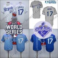 Wholesale Royal Blue Baseball Uniforms - 2016Wade Davis Jersey Home Away KC Baby blue Kansas City Royals UniformsWade Davis Jersey Home Away KC Baby blue Kansas City Royals Uniforms