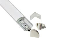Cheap corner led profile - 60 angled LED aluminum profile for led corner cabinet lights(10X0.5M)