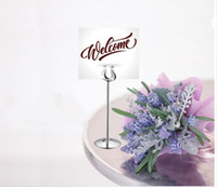 Wholesale Stainless Table Frame - Large Size 10 12 14 inch tall stainless steel table number holders wedding , table number stands , table number frame 10pcs lot