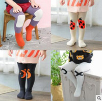 Wholesale Lolita Socks - Baby Leggings Tights Kids Tights Winter Leggings Baby Ins Clothes Fox Animal Cloud Leggings Cute Long Korea Socks Girls Tights 520