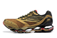 Wholesale Men Running Shoes Wave - Men's Gold Wave Prophecy 5 Running Shoes Best Quality Breathability Cushioning Run Jogging Shoes Outdoor Damping Anti-Slip Running Sneakers