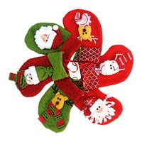 Wholesale Christmas Socks Decorations - Hot sell Christmas 2016 cloth Scene Decorations Small socks lovely Santa Claus Mini Socks free shipping