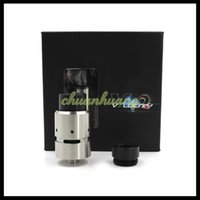 Wholesale V2 Cigs - Vaporizer Velocity V2 RDA Rebuildable Dripping Atomizers With Replacement Glass Dual Post PEEK Insulators vs matty hatty BMI Fit E cigs Mods