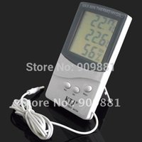 Wholesale Lcd Outdoor Thermometer Hygrometer - LCD Indoor Outdoor Digital Thermometer Hygrometer Home Office MAX-MIN Temperature Humidity Meter KTJ TA318 With 1.5M Sensor