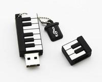 Wholesale Model Usb 64gb - New Cartoon Piano Model USB 2.0 32GB Flash Drive Memory Stick Pendrive Gift U Disk 32GB 64gb 128gb 256gb