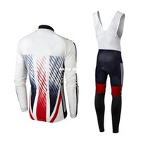 Wholesale sky long sleeve cycling jersey - 2016 SKy White Pro cycling jersey long sleeves Cycling Jersey Set Quick Dry Compressed Autumn None Fleece Winter Fleece Size XS-4XL