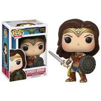 Wholesale Wonder Woman Figure - Funko POP Movies DC Justice League - Wonder Woman Diana Toy Figure 172#