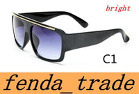 Wholesale Vintage Glass Frog - Brand men women Sun Glasses Fashion Elegant Sunglasses Vintage Frog Glasses Black Wide Frames Lens Frame Eye wear quality A+++ MOQ=10