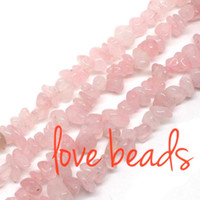 Wholesale oval lapis beads - Irregular Natural Smooth Pink Cystal Gravel Stone Beads Stone 5mm-8mm Chips Loose Beads Strand 80CM For wholesale (F00331) wholesale