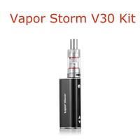 Wholesale el cigarettes - Hot Selling Vapor Storm V30 Kit Full Kit V30W Mod EC1 Tank Kit Dry Herb Vaporizer El Cigarettes Starter Kits