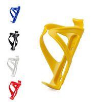 желтый черный держатель для воды оптовых-Оптовая продажа-новый горячий продажа черный желтый Велоспорт Горный спорт велосипед пластиковые напитки бутылки воды держатель клетки велосипед аксессуары 5 цветов