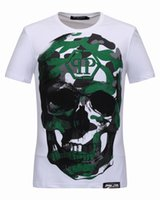 Wholesale Famous Cartoon Paintings - 3D Pattern T-shirts for Men Big Skulls Coloured 3D Printed man Polo t shirts Famous Short Sleeve Male Sports tops Tee Shirt 18230