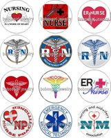 Wholesale Nursing Charms - Free shipping NURSE RN glass Snap button Charm Popper for Snap Jewelry good quality 12pcs   lot Gl360 jewelry making
