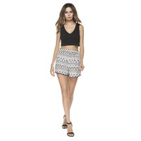 Wholesale Black Denim Print Legging - Ladies two sets of black deep V sleeveless high-waisted blouse with wide leg shorts