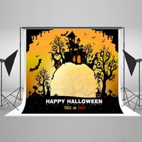 Halloween Photographic Backgrounds Cartoon Pumpkin Photo Backdrops Matériel en tissu sans rides pour la partie Photoshoot Contexte HJ02401