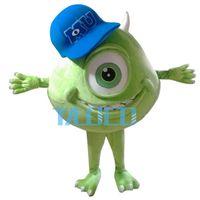 Wholesale Mike Wazowski Mascot Costume - Mike Wazowski Mascot Costume From Monsters University Fancy Dress Free Shipping