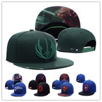 karikatür şapkalı şapkalar toptan satış-Ucuz Snapback Şapkalar Superman Düz Brim Marvel Comics Şapka Karikatür Kap Kaptan Amerika, Demir Adam Örümcek-Adam Caps
