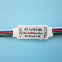 RGBW LED Amplificateur 5-24V Pour Ampoule Led Strip Light Lamp DIY 10pcs / lot