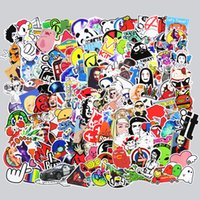 Wholesale Diy Doodle - 400 Pcs Mixed Funny Cartoon Stickers for Phone Skateboard Luggage Car Styling DIY Decals Laptop JDM Doodle Decoration Stickers