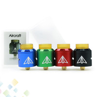Wholesale electronic cigarette plate - Newest Aircrift RDA Atomizer Electronic Cigarette 24mm Aluminum Material with 24K Gold Plated Build Deck Fit 510 Mods DHL Free