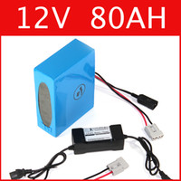 Wholesale 12v Lithium Ion Battery Packs - 12V 80AH lithium battery super power 12.6V battery lithium ion battery + charger + BMS , electric bike pack Free customs duty