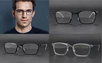 Wholesale titanium designer eyeglass frames - Lindberg 6536 glasses frame clear lens designer glasses prescription there is no screw style design men women brand eyeglasses frame