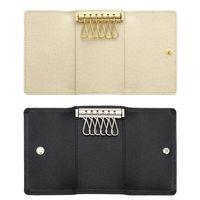 Wholesale original keys - 2017 Wholesale original box luxury multicolor short wallet six key holder women men's classic zipper pocket key chain free shipping 62630