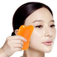 Wholesale Gua Sha Massage Board - Natural resin Gua Sha Body And Face Guasha Board Massage Scraping Therapy Tool Body Face Waist Thin Scrapping Clips