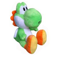 "Wholesale Cute Mario Bros - Cute YOSHI 11"" Super Mario Bros Plush Doll Stuffed Toy Free Shipping For Children Gift New"