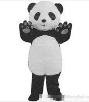 panda fantasia venda por atacado-Venda quente New Panda Mascot Costume Fancy Dress Adulto Frete Grátis Tamanho: S M L XL XXL