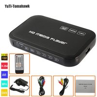 Portable 1080P Full H6W HD Media Player INPUT SD / USB / HDD Sortie HDMI / AV / VGA / AV / YPbpr Support DIVX AVI RMVB MP4 Mini Player