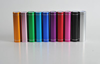 chargeurs portables de rouge à lèvres achat en gros de-100pcs À La Mode en aluminium rouge à lèvres 2600 mAh Power Bank Portable Backup Externe Batterie USB Chargeur Mobile Alimentation Mobile