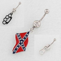 Wholesale Zipper Finger Ring - 3 different designs Fingers Belt Buckle Flag Zipper Belly Button Rings 316L Stainless Steel Navel Piercing Dangle Belly Rings Body Jewelry
