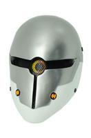 metal kafatası maskeleri toptan satış-Taktik Maske 'ın Ev DIŞLI M06 AIRSOFT PAINTBALL COSPLAY Tel Örgü TAM YÜZ KORUMA KAFATASı MASKESI Metal Dişli Katı Gri Tilki