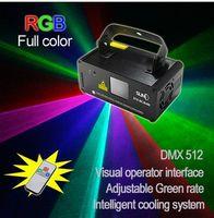Wholesale Scanner Rgb - Remote DMX 400mW RGB Laser Stage Lighting Scanner DJ Dance Xmas Show Blue Light LED Effect Projector Fantastic Disco item