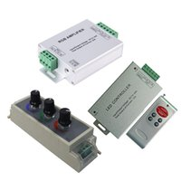 Wholesale Wholesale Led Pwm - Led RGB Amplifier   PWM Dimmer   RF Controller Input dc 5v 12V 24V 24A Signal Repeater 120w 288w 576W for 2835 5050 lights