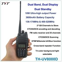 Écouteurs Radio En Gros Pas Cher-Gros-2016 NEW TYT radio TH-UV8000D 136-174 / 400-520MHz 10W FM THUV8000D Transceiver Radio Handheld Radio Dual Band + FREE Ecouteur