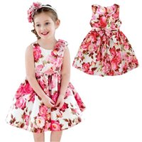 Wholesale organic baby clothing online - PrettyBaby kids clothes sundress flowers cotton dress kids floral party dresses baby summer sundress kids