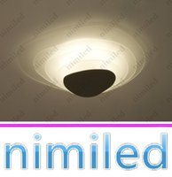 nimi731 Dia 45cm / 62cm Modern vidro temperado Models teto de gelo de estar Sala de luzes LED teto Bedroom Lamp Dinning Room Restaurant Lighting