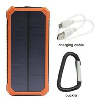 Wholesale Tablet 21 - Hot Portable 12000mAh Solar Charger Power Bank Dual USB LED For Mobile Phone Tablet