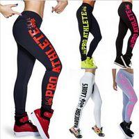Wholesale New Style Women Sportswear - Wholesale-MELIFE 2016 New Women Sportswear Yoga Pants Skinny High Waist Elastic Fitness Yoga fashion Styles Sports Leggings Women Clothing