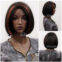 Wholesale Nawomi Wigs - 3830 NAWOMI African Women Wigs Fluffy Short Straight Hairpiece Natural Wigs High Grade New Arrival Promotation