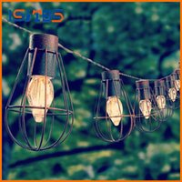 Wholesale Decorative Metal Hearts - Led Solar garden light lampe solaire decorative Metal string lights 10led waterproof led solar lamps for garden decoration