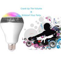 Wholesale Bt Light - Smart Color Light Bluetooth Speaker dual mode BT2.1 BT 4.0 Bulb Color Change LED Light Control Wireless Color Bulb Works With CellPhone App